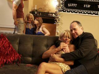 """Ariel Mcgwire,Emma Hix"" New Years Family Fuck"